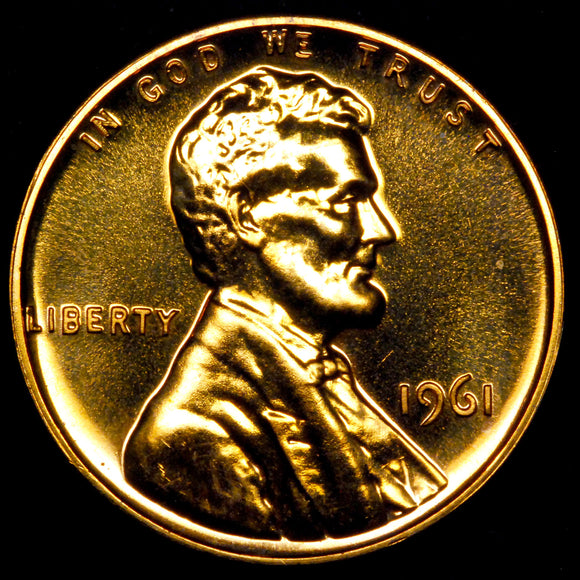 1961-P Lincoln cent : GEM Proof