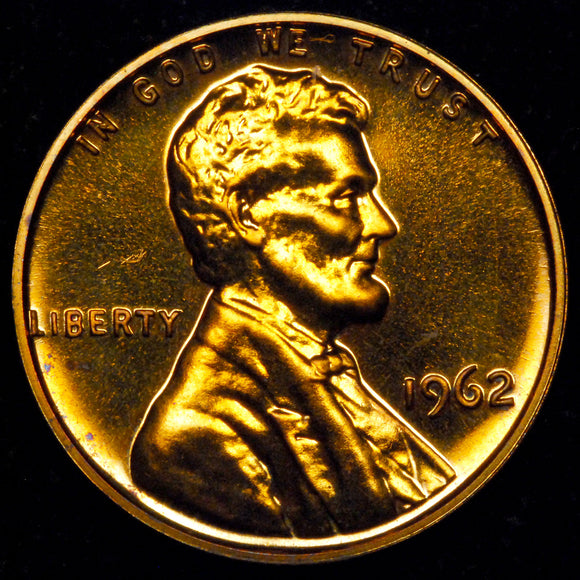 1962-P Lincoln cent : GEM Proof