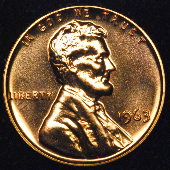 1963-P Lincoln cent : GEM Proof