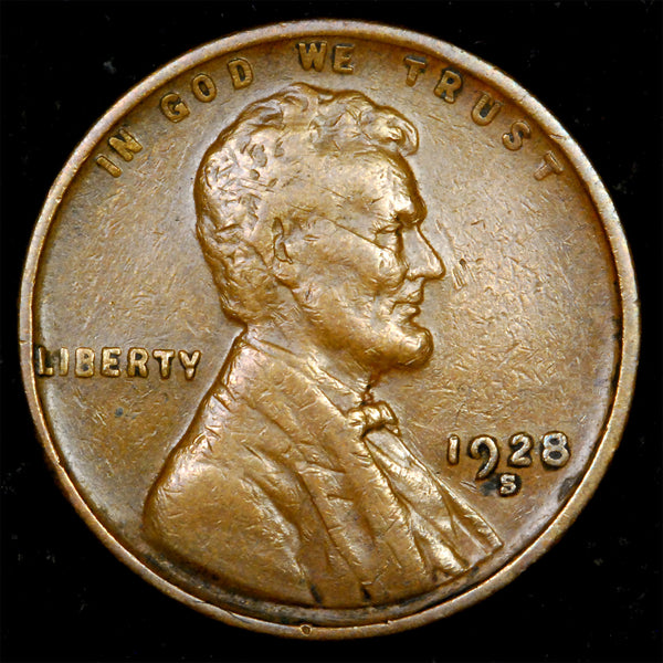1928-S Lincoln cent : VF++ - Small S