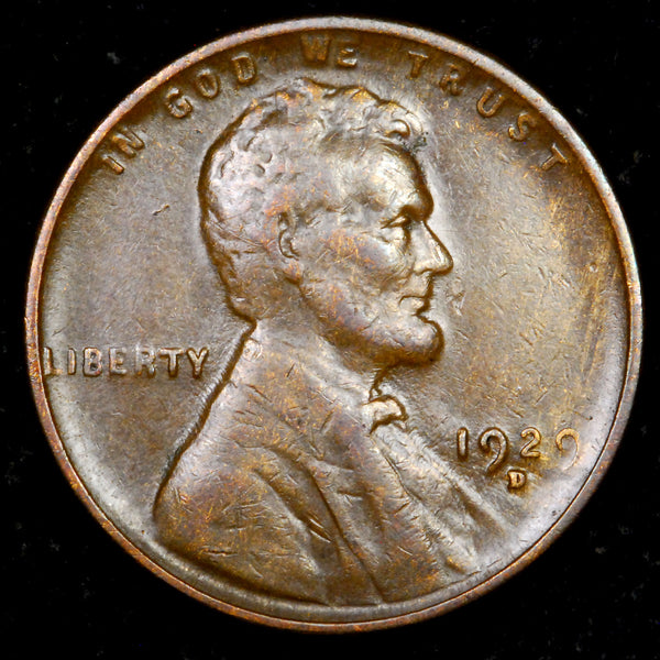 1929-D Lincoln cent : EF+