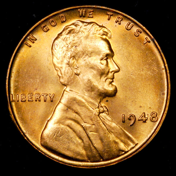 1948-P Lincoln cent : GEM BU
