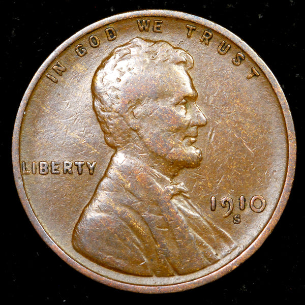 1910-S Lincoln Cent: VF