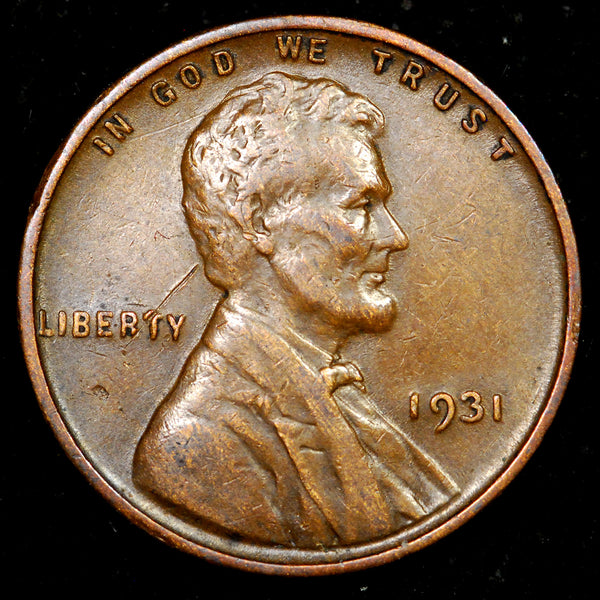 1931-P Lincoln Cent: EF+