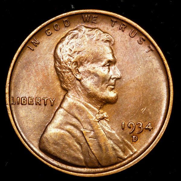 1934-D Lincoln Cent: Ch-GEM MS
