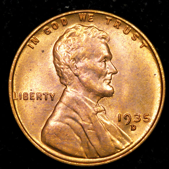 1935-D Lincoln Cent: Ch MS