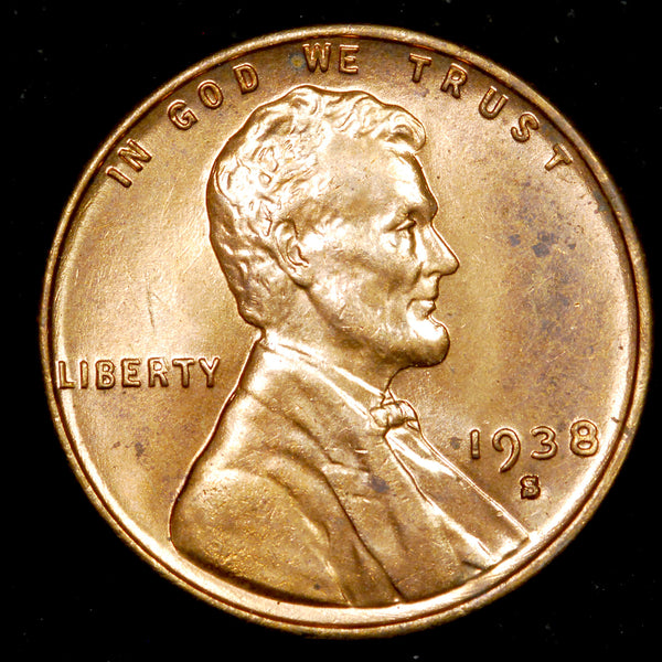1938-S Lincoln Cent: Ch MS