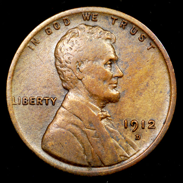 1912-D Lincoln Cent: VF