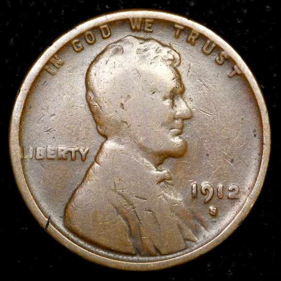 1912-S Lincoln Cent: G