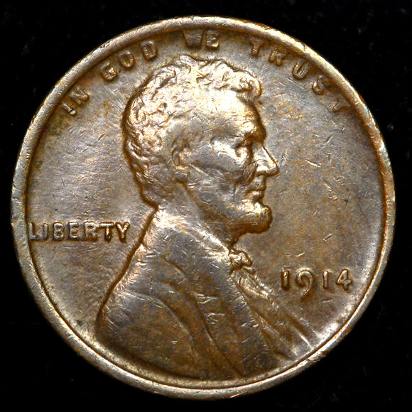1914-P Lincoln Cent: VF