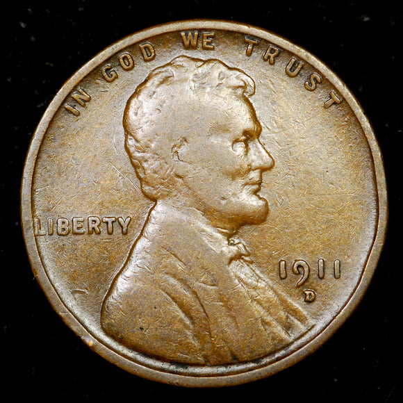 1911-D Lincoln Cent: VG