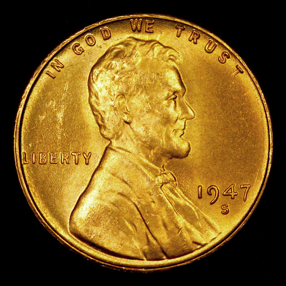 1947-S Lincoln Cent: Ch-GEM BU