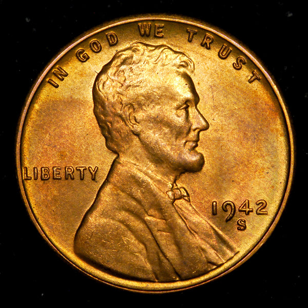 1942-S Lincoln Cent: Ch-GEM BU