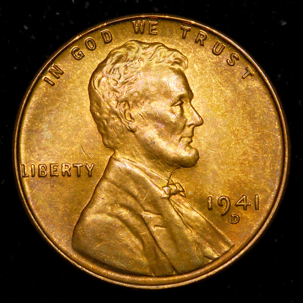 1941-D Lincoln Cent: Ch-GEM BU  NICE TONING!