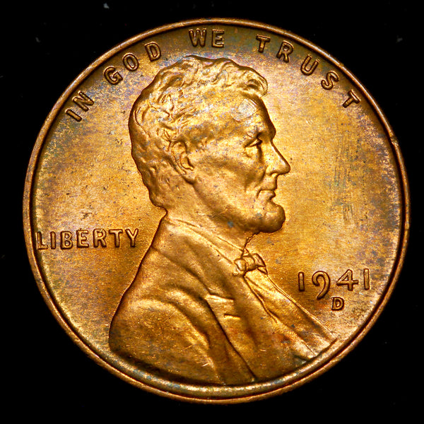 1941-D Lincoln Cent: Ch-GEM BU  BEAUTIFUL TONING!