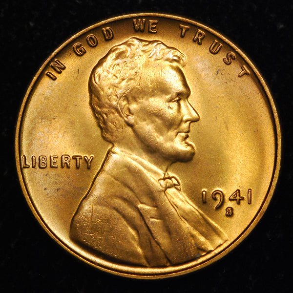 1941-S Lincoln Cent: GEM BU