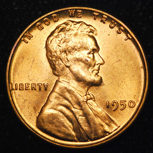 1950-P Lincoln Wheat Cent: Ch-GEM BU