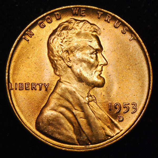 1953-D Lincoln Wheat Cent: GEM BU