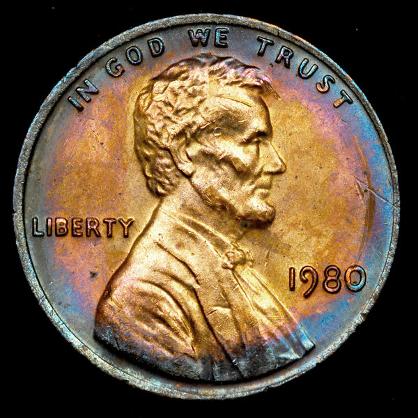 1980-P Lincoln Memorial Cent: Ch-GEM BU