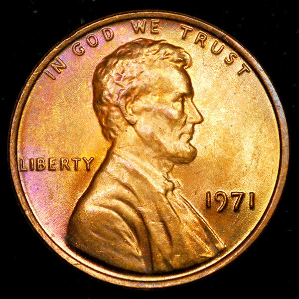 1971-P Lincoln Memorial Cent: GEM BU
