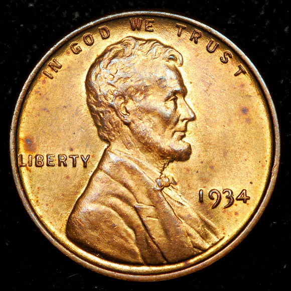 1934-P Lincoln Wheat Cent: Ch-GEM MS