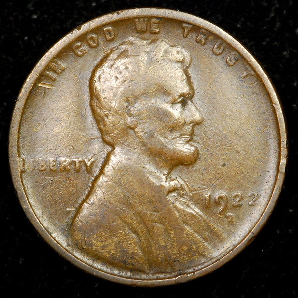 1922-D Lincoln Wheat Cent: VF