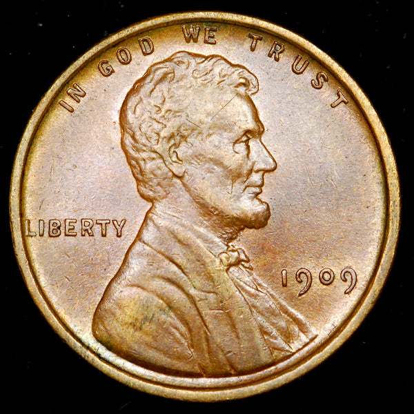 1909-P Lincoln Wheat Cent: AU++