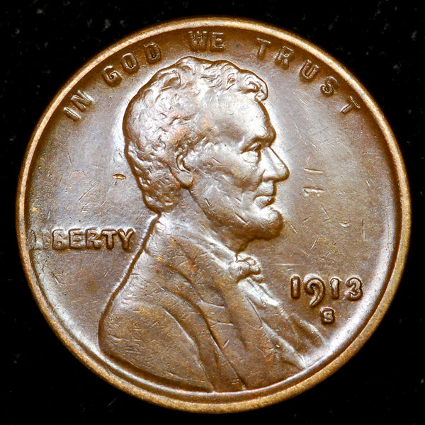 1913-S Lincoln Wheat Cent: EF
