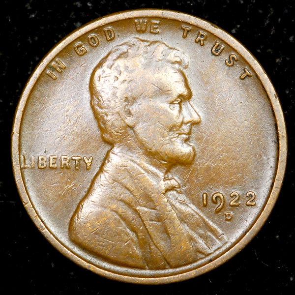 1922-D Lincoln Wheat Cent: F+