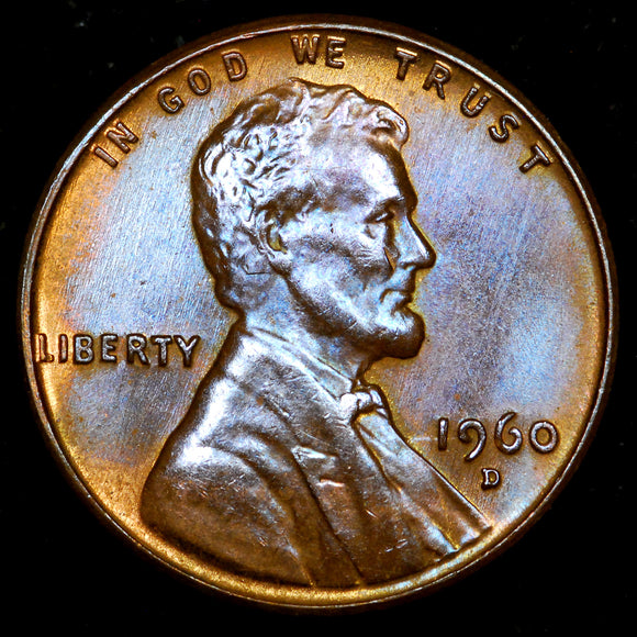 1960-D Small Date Lincoln Cent: GEM BU