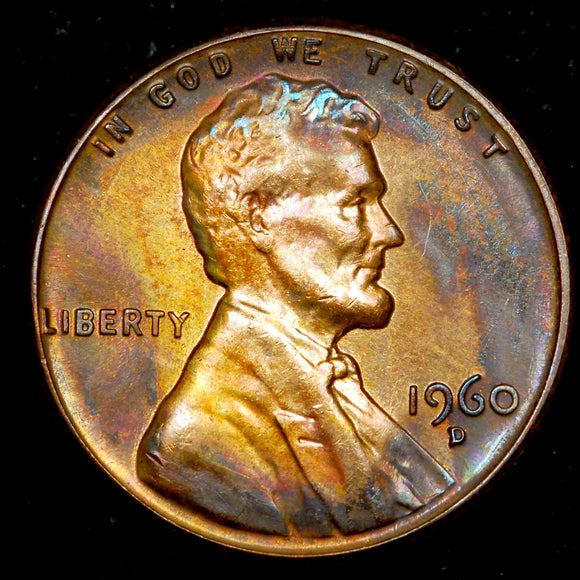 1960-D Large Date Lincoln Cent: GEM BU