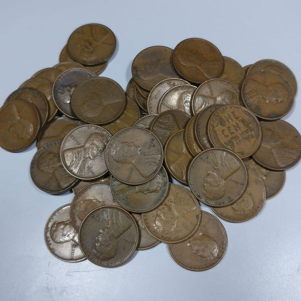 1930-D Lincoln Wheat Cent 'Above Average Circulated' Roll