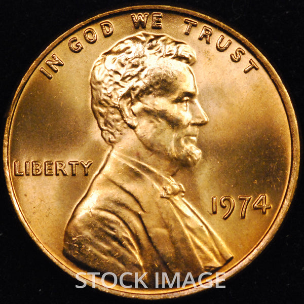 1974-P Small Date Lincoln cent - GEM BU