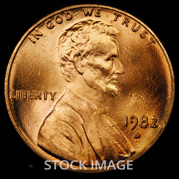 1982-D Large Date Zinc Lincoln cent - GEM BU