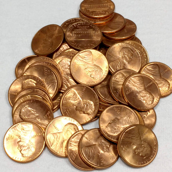 50 coins 1984-P Lincoln Memorial Cent Penny BU Roll