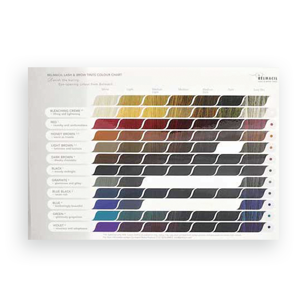Belmacil Color Chart-Belmacil-Fox River Spa Supply-Fox River Spa Supply
