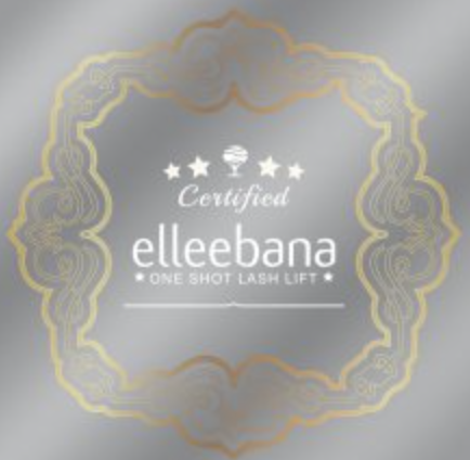 ELLEEBANA 8″x8″ Clear Window  Decal: Border Design-Belmacil, Elleebana, Elleebana SPM, Sleek Brows-Fox River Spa Supply-Fox River Spa Supply