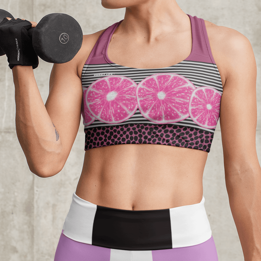 Pink Grapefruit Sports Bras - Thienna's Sweet Life