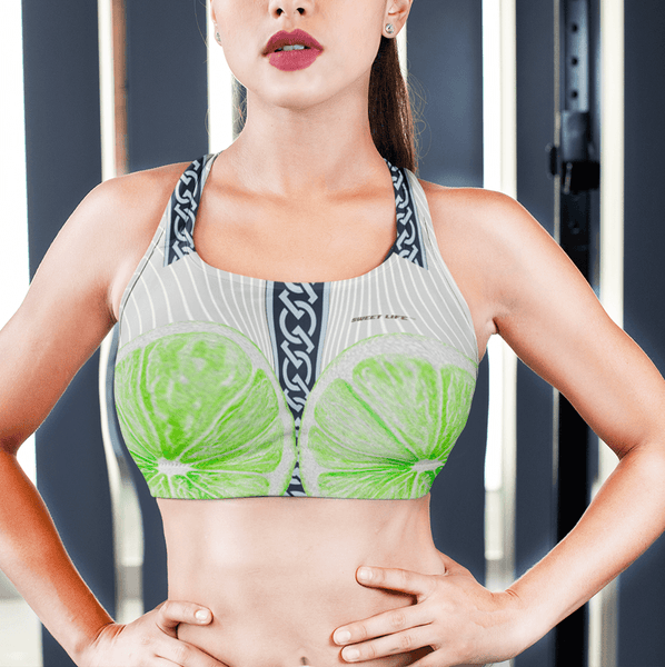 Lime Slices Sports Bras - Thienna's Sweet Life