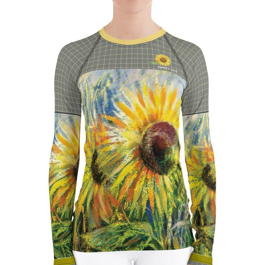 Sunflower Women's Rash Guard T-Shirt - Thienna's Sweet Life
