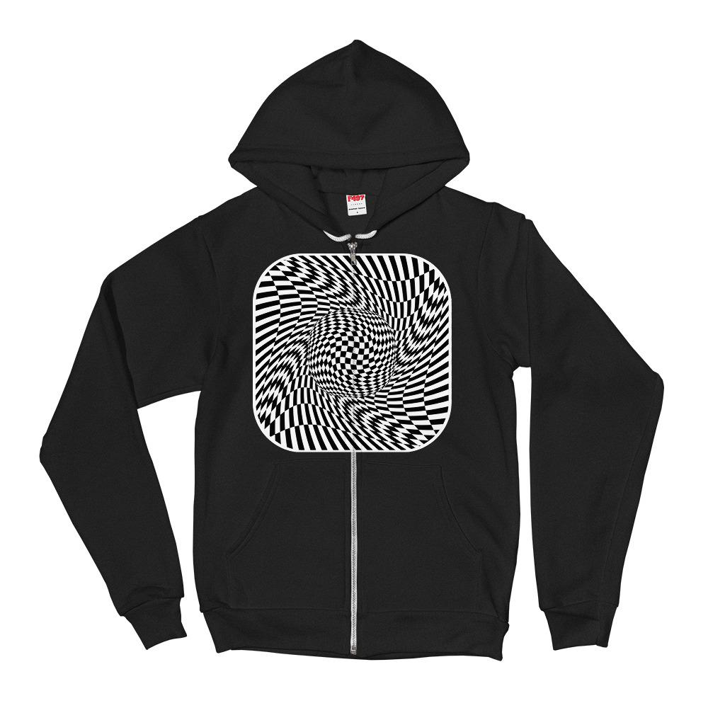 Abstract Checkered Hoodie Sweater - thiennas-sweet-life