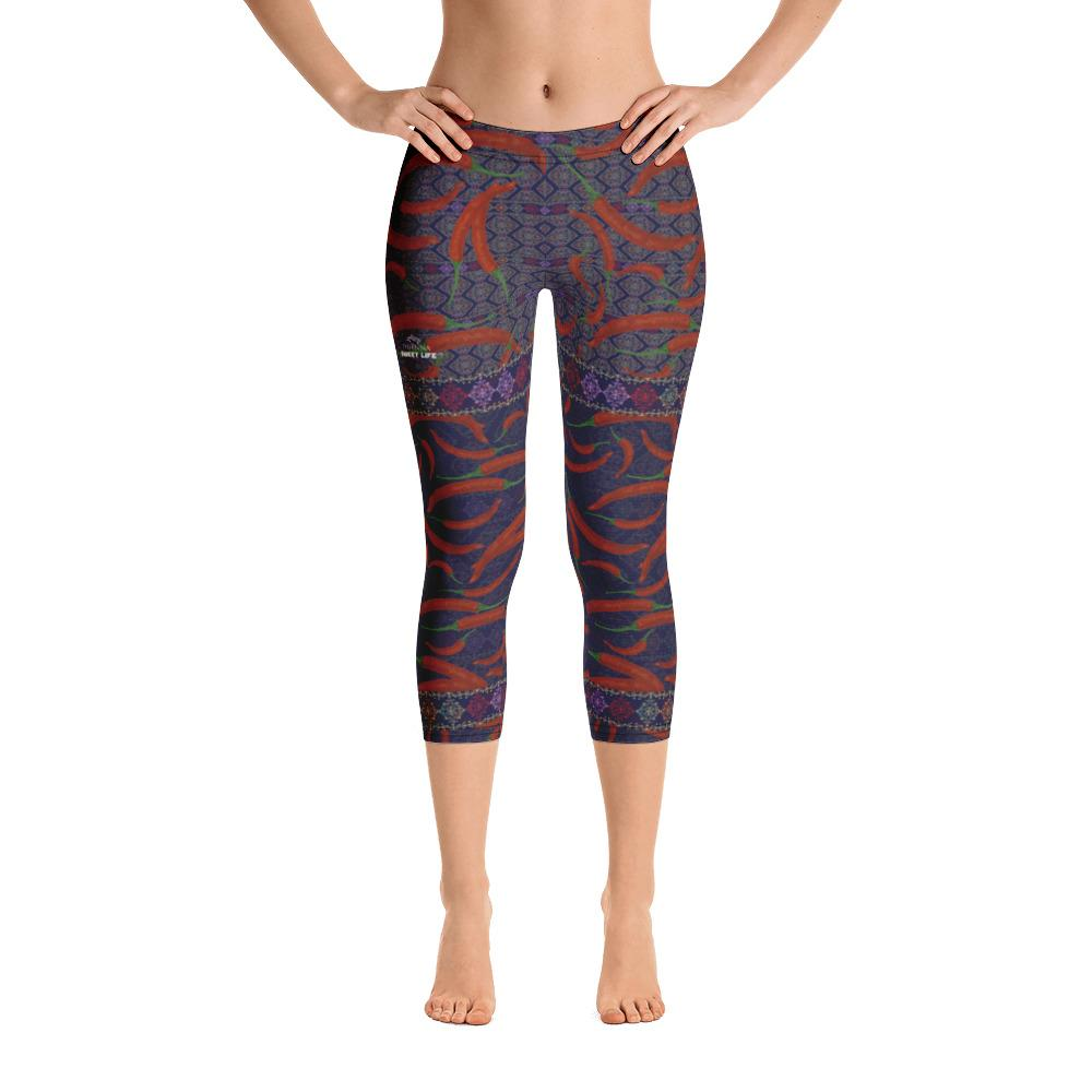 Hot Chili Capri Leggings - thiennas-sweet-life