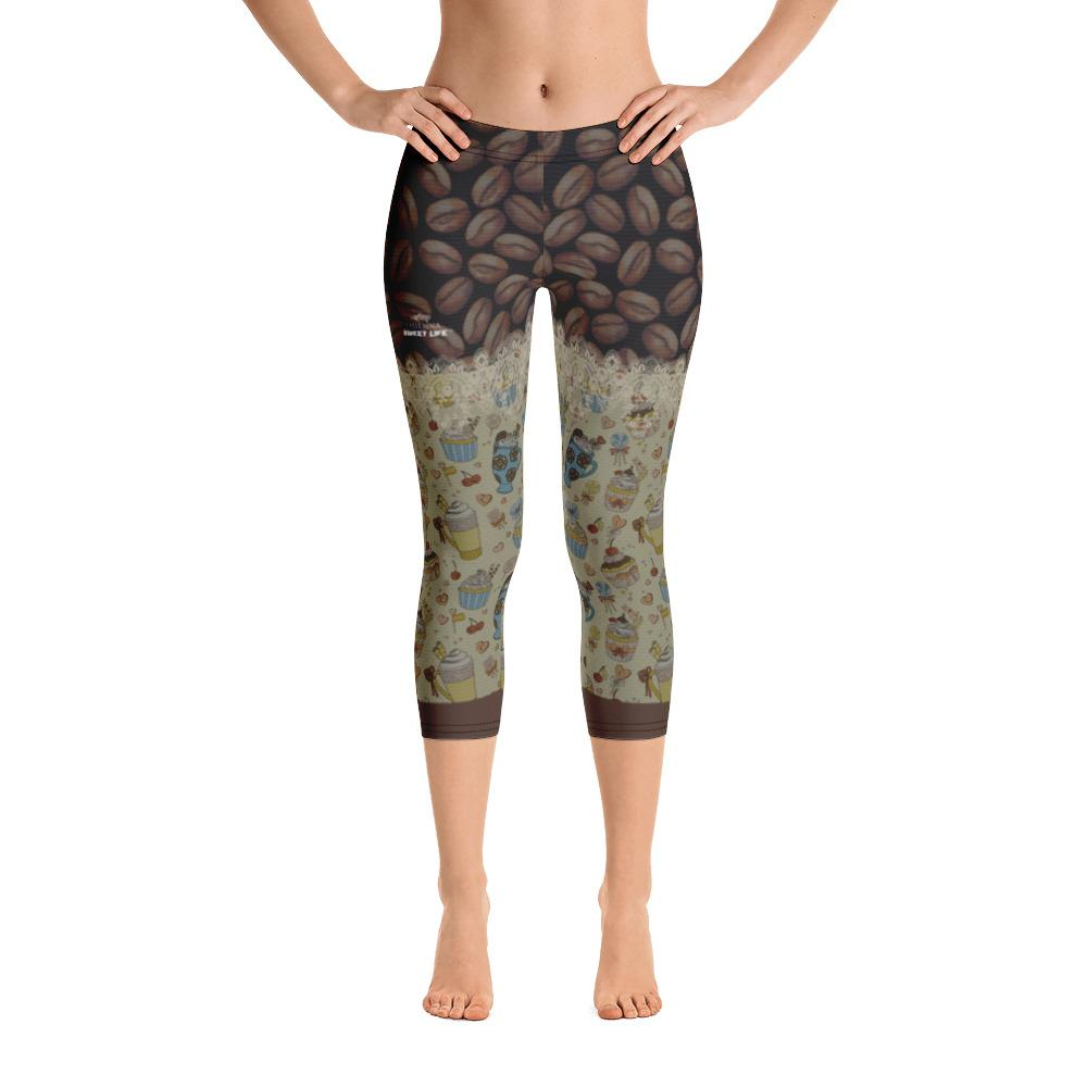 I Love Coffee Capri Leggings - thiennas-sweet-life