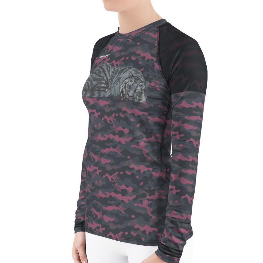 Sleeping Tiger Women's Rash Guard T-Shirts - Thienna's Sweet Life