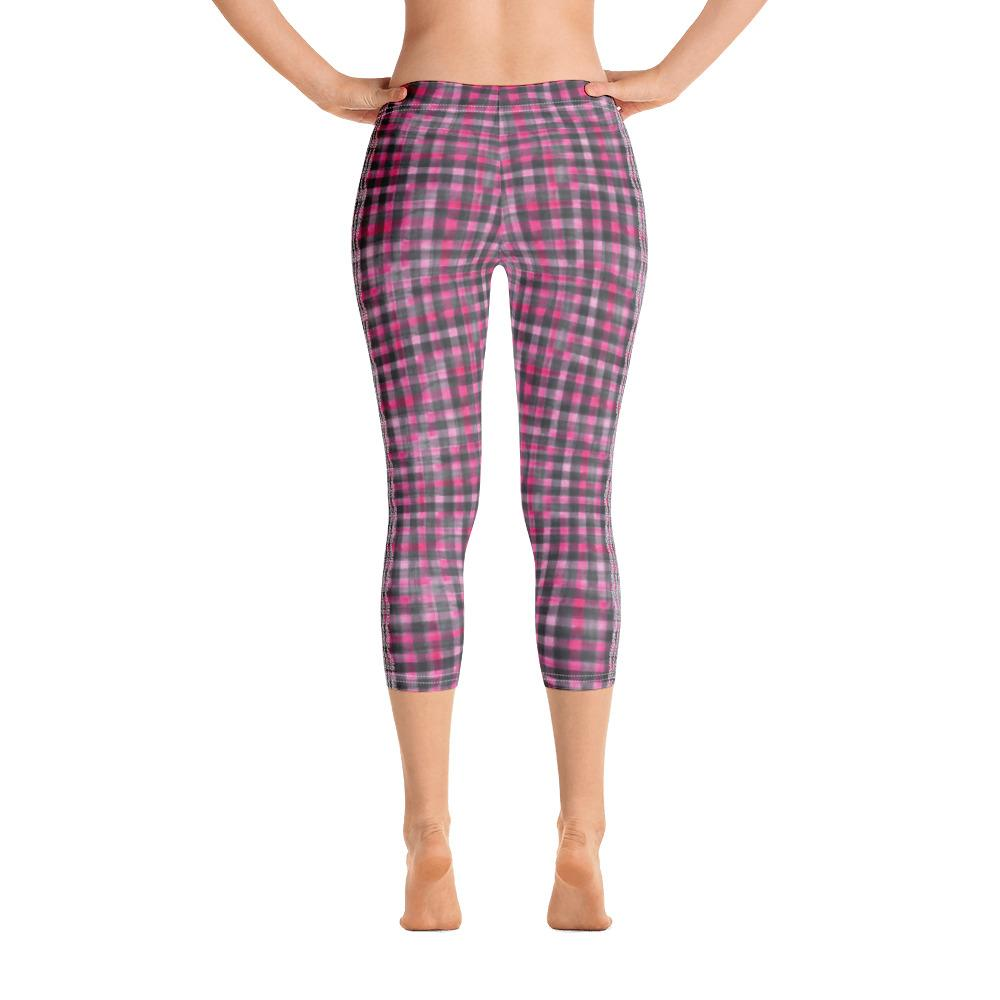 Vintage Washout Capri Leggings (Plaided) - Thienna's Sweet Life
