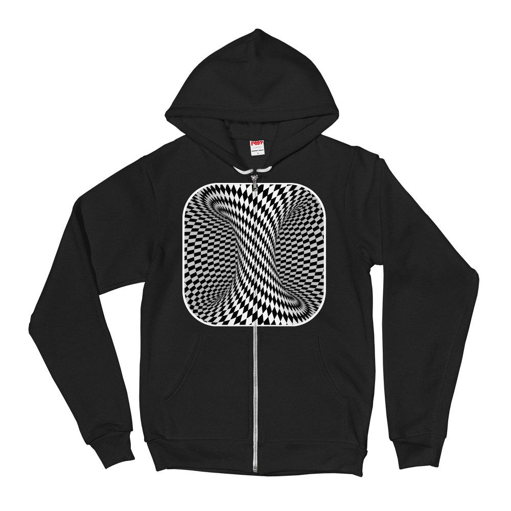 Checkered Energy Vortex Hoodie Sweater - thiennas-sweet-life