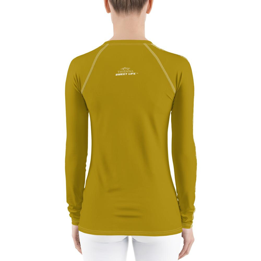 Mustard Women's Rash Guard T-Shirts (Solid Color) - thiennas-sweet-life