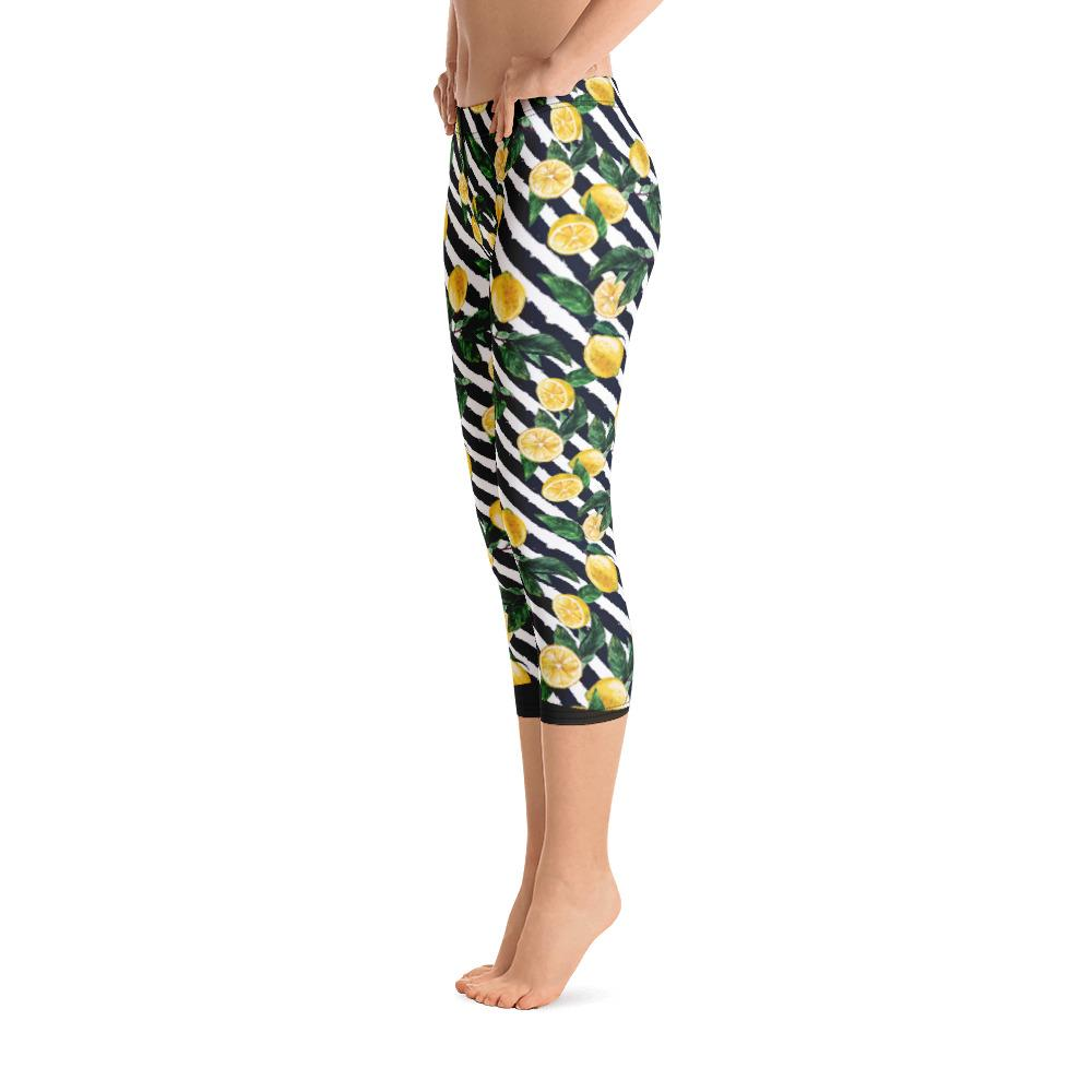 Lemon Capri Leggings - thiennas-sweet-life