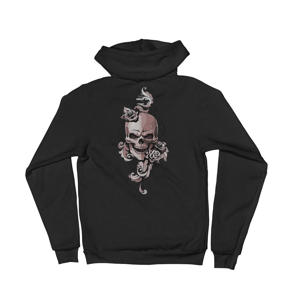 Roses and Skull Hoodie Sweater - thiennas-sweet-life