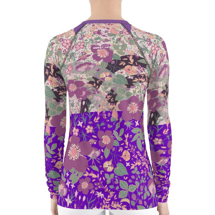 Gorgeous Vintage Floral Women's Rash Guard T-Shirts - Thienna's Sweet Life